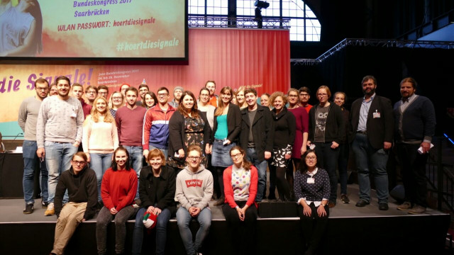 Die Delegation der Jusos Bayern